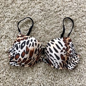 Other - Animal Print Push Up Bra 32B